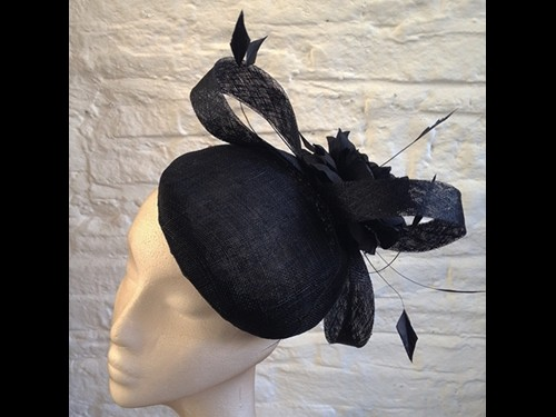 Couture by Beth Hirst Black Flower Swirl Button