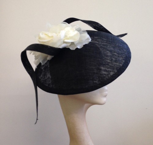 Couture by Beth Hirst Black and Ivory Dior esque Hat