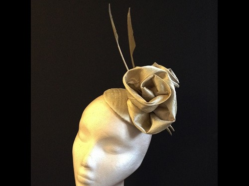 Couture by Beth Hirst Gold Silk Rose Button