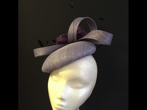 Couture by Beth Hirst Lilac Flower Swirl Button
