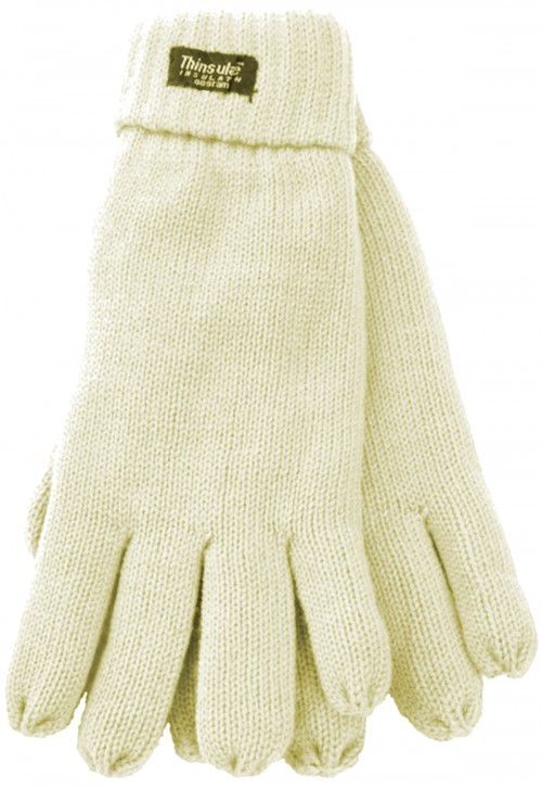 Thinsulate Ladies Gloves in Cream