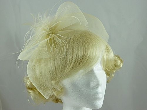 Feather and Veil Fascinator