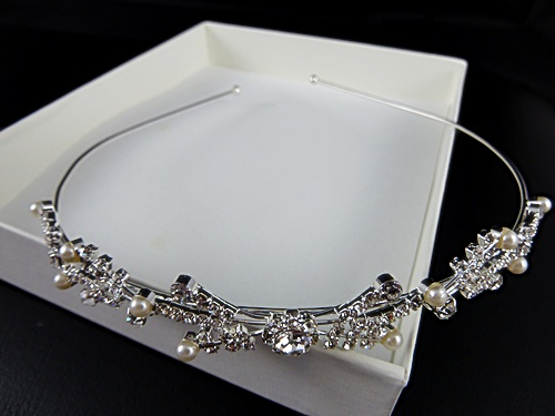 Crystal and Pearl Tiara