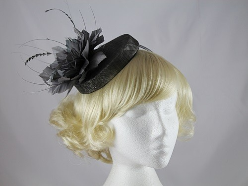 J Bees Millinery Flower Pillbox
