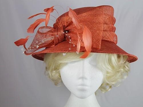 Wedding Hats 4U - Hawkins Collection Short Brim Wedding Hat in Dark ... 4256003901c6