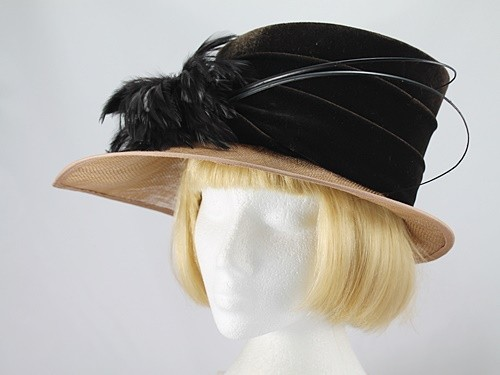 Dark Chocolate and Caramel Formal Hat