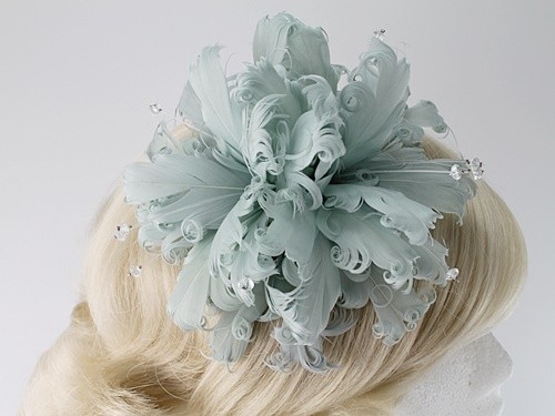 Failsworth Millinery Feather and Diamante Fascinator