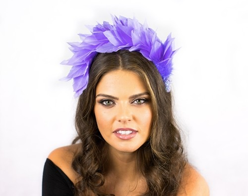 Deb Fanning Millinery Feathered Headpiece