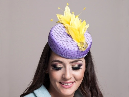 Deb Fanning Millinery Lilac Pillbox Hat