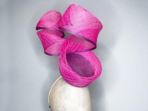 Deb Fanning Millinery Pink Crinoline Swirl Hat