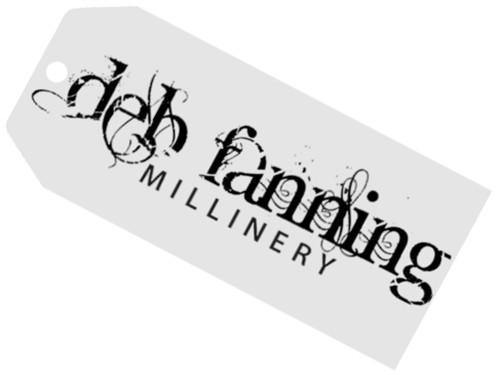 Deb Fanning Millinery Red Velvet Looped Hat