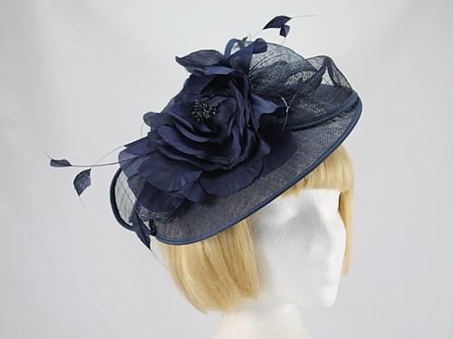 Wedding Hats 4U - Debut Navy Large Fascinator e167e47293c