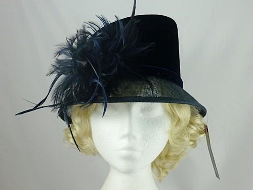Wedding Hats 4U - Debut Navy Wedding Hat 16f809e89ab