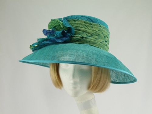 Decisions Turquoise Wedding Hat