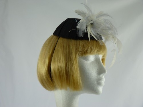 Designer Millinery by Rachel Wykes Feathers and Sequins Headpiece