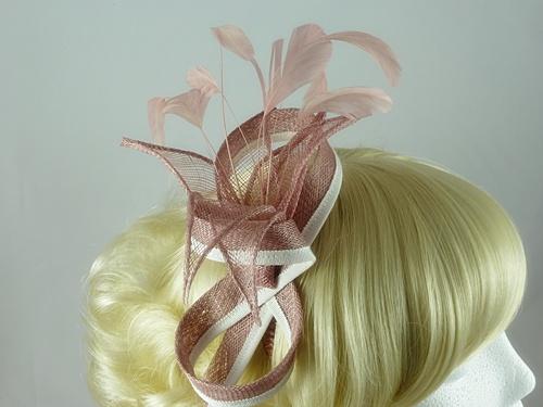 Wedding Hats 4U - Gemma Fascinator in Dusky Pink 2c84b36a064