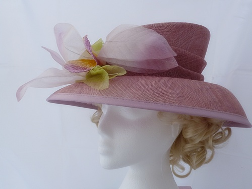 Wedding Hats 4U - Diana Hats Dusky Pink Occasion Hat in Dusky Pink 3d24467c089
