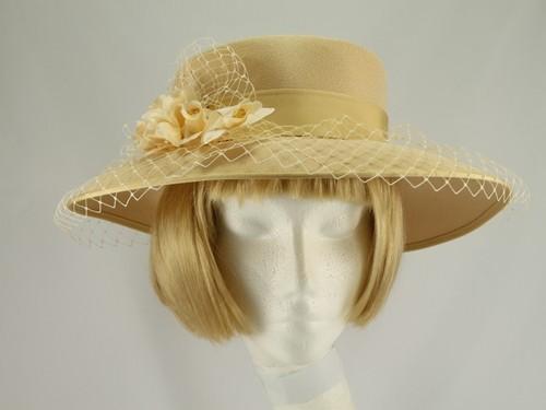 Eastex Lemon Wedding Hat