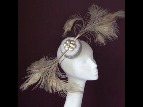 Edel Staunton Millinery Peacock Display