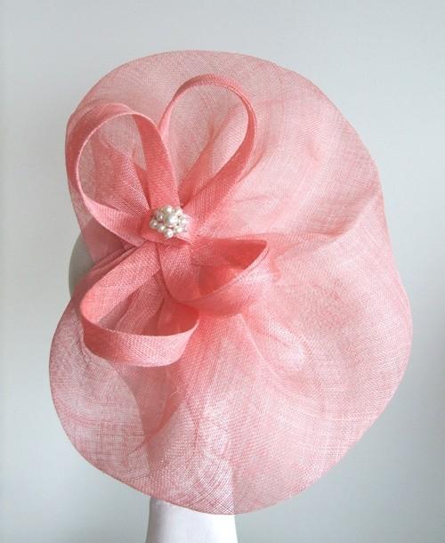 Edel Staunton Millinery Coral Disc Headpiece