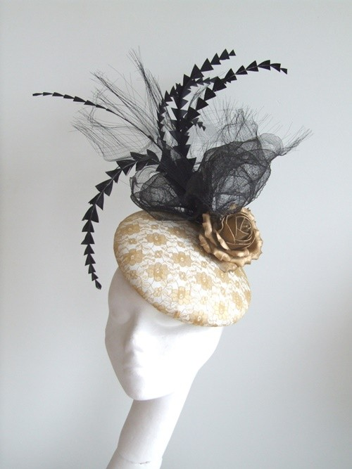 Edel Staunton Millinery Gold Beret