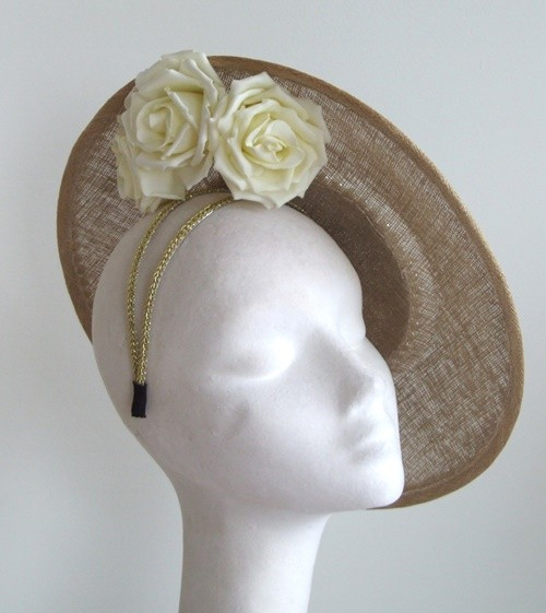 Edel Staunton Millinery Gold Disc Headpiece