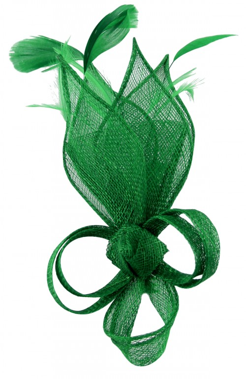 Max and Ellie Lily Comb Fascinator in Emerald