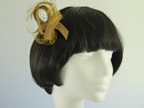 Fascinator Swirls and feathers