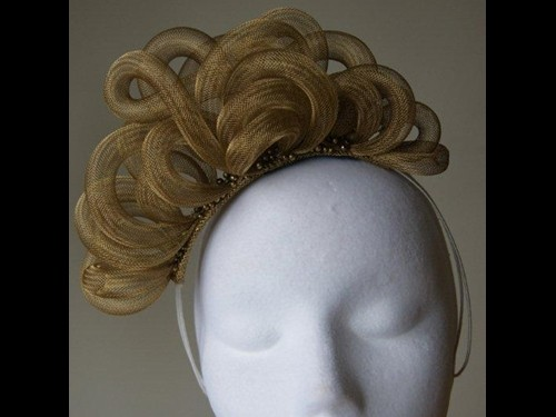Esther Louise Millinery Golden Headband