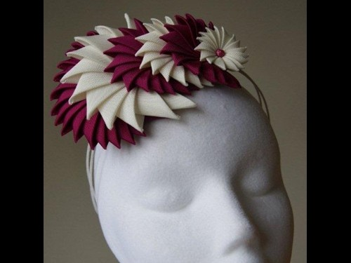 Esther Louise Millinery Origami Grosgrain Ribbon Headband