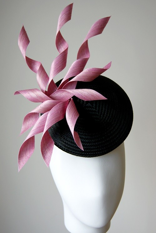 Esther Louise Millinery Pink Starburst Button