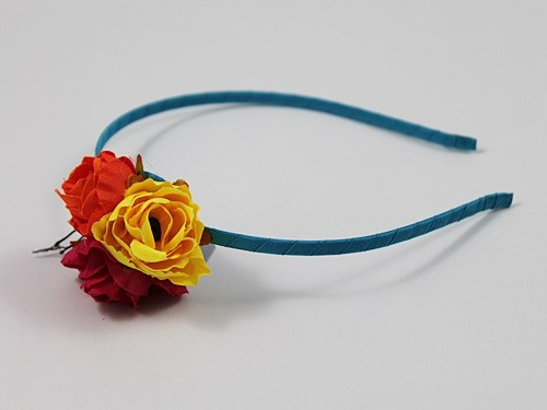 Fabric Flowers Aliceband