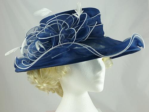 c138cc886df Wedding Hats 4U - Failsworth Millinery Organza Wedding Hat in Navy ...