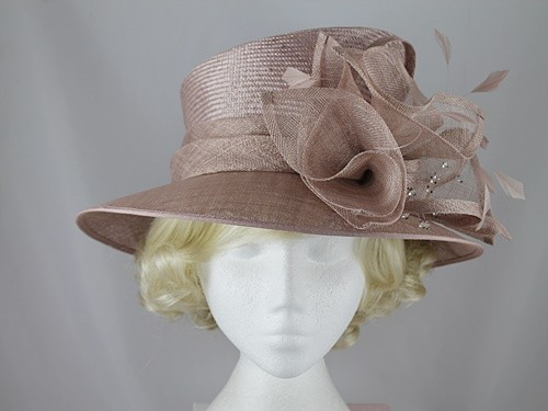 Failsworth Millinery Beige Wedding Hat