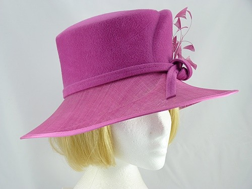 Failsworth Millinery Cerise Winter Occasion Hat