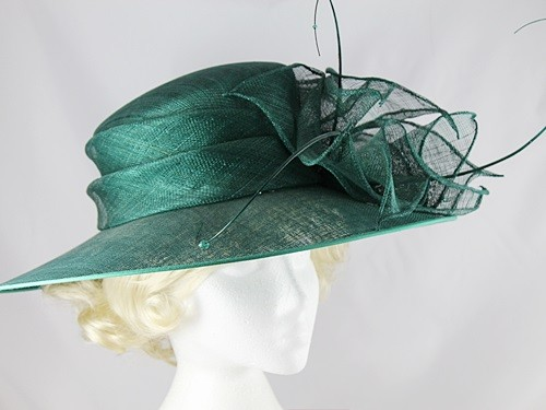Fascinators 4 Weddings - Failsworth Millinery Dark Green Wedding ... 7e662f08f5e
