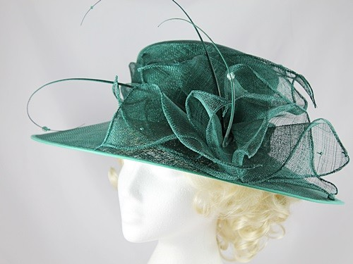 Fascinators 4 Weddings - Failsworth Millinery Dark Green Wedding   Events  Hat a779dcc0a99