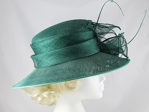 Wedding Hats 4U - Failsworth Millinery Dark Green Wedding   Events Hat 37f077ab81e