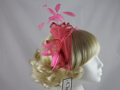 Failsworth Millinery Pink Fascinator