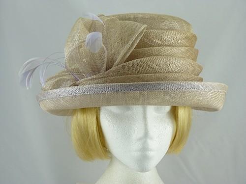 Wedding Hats 4U - Failsworth Millinery Taupe Wedding hat 7d729bfa0639