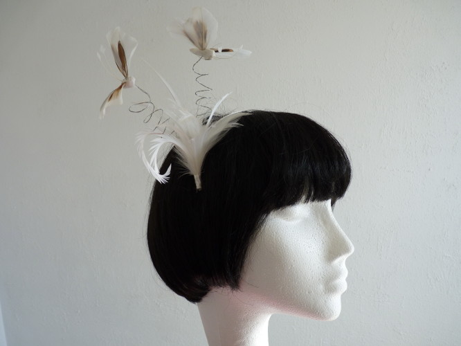 Events Fascinator White Butterflies