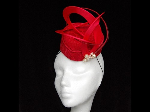 Fiona Mangan Millinery Rouge