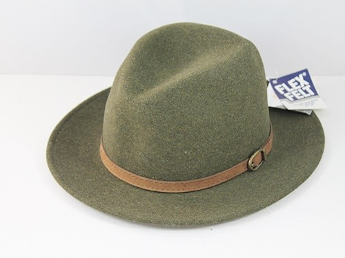 Flex Felt Felt Hat in Brown