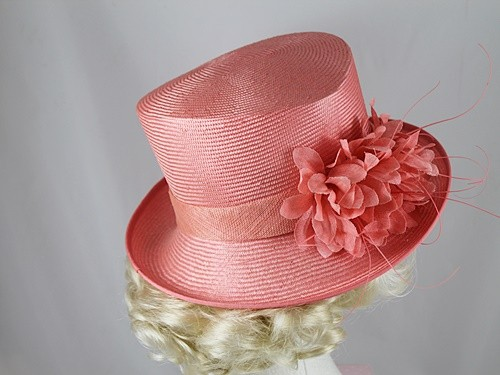 Frank Usher Coral Wedding Hat