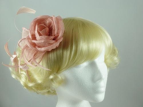 Wedding Hats 4U - Freya Fascinator in Dusky Pink 58757cc2724