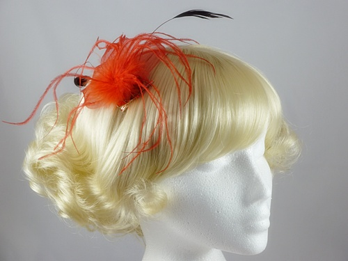 Feathery Leaf Fascinator