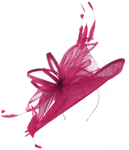 Max and Ellie Ascot Disc Headpiece in Fuchsia