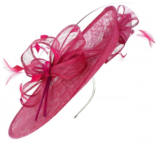 Max and Ellie Events Disc Headpiece in Fuchsia