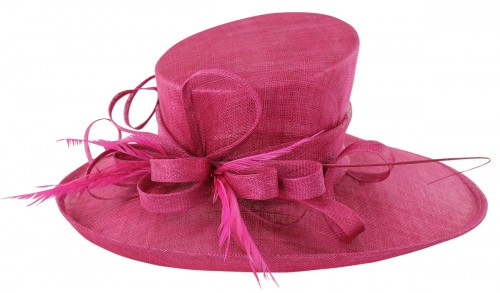 Wedding Hats 4U - Max and Ellie Events Hat in Fuchsia - ML13-AH1 5395860af5c