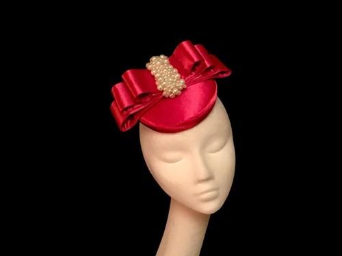 Ashleigh Myles Millinery Satin Three Layer Bow Headpiece